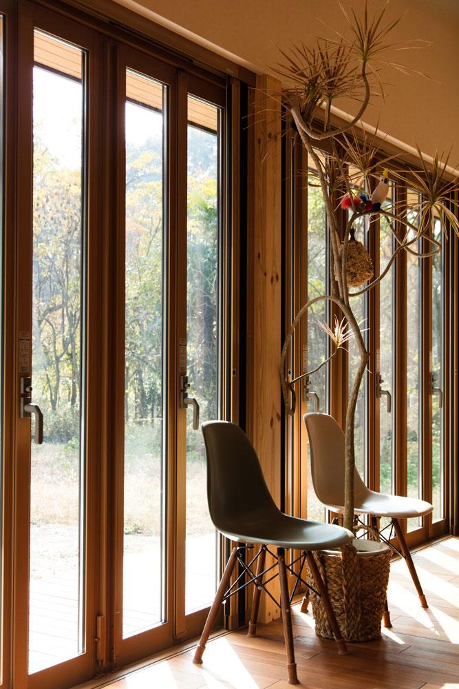 長期優良住宅の平屋_折戸の窓